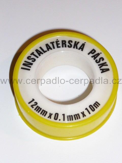 Teflonová páska 12mm x 0,1mm x 10m, těsnící páska, těsnění (Teflonová páska)