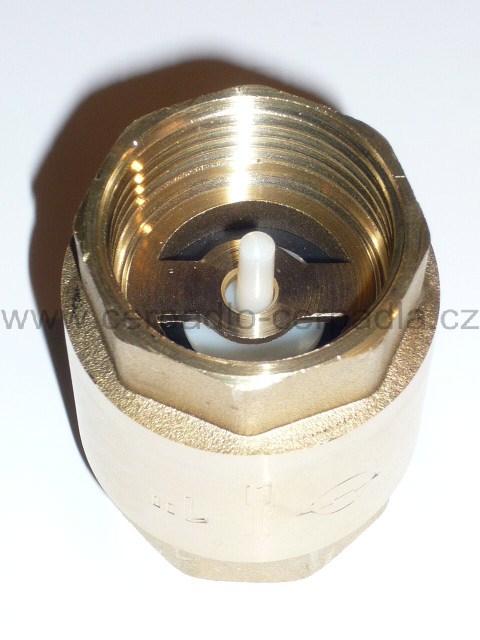 """1"""" univerzální zpětná klapka, PN 12, mosaz, plastová záklopka, s pružinou (univerzální"""