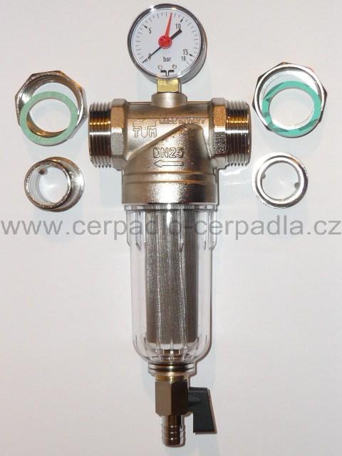 """Filtry na vodu 1"""", filtr s manometrem na mechanické nečistoty, TM3135 (odkalovací filtr , filtry na mechanické nečistoty)"""