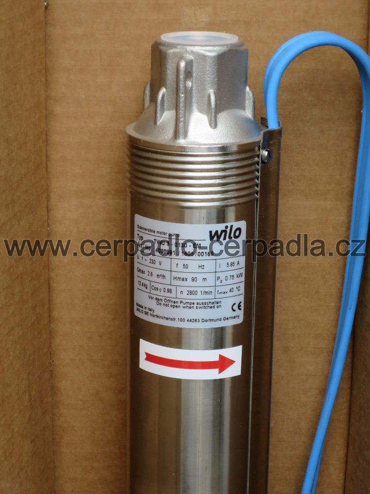"""WILO TWU 3"""" - 0130 P, ponorné čerpadlo, 4090891 (TWU 3-0130 EM)"""
