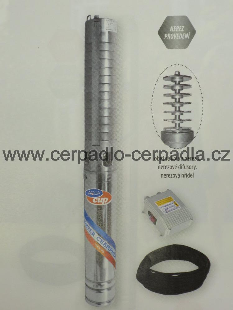 "4"" ELECTRA INOX 70/92 M 25m, 230V, ponorné čerpadlo AQUACUP (DOPRAVA ZDARMA, ponorná čerpadla ELECTRA INOX 70/92 M)"