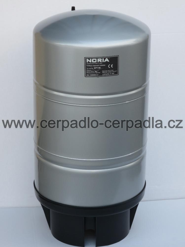 tlaková nádoba NORIA APT-80, dárek (stojaté tlakové nádoby, pro domácí vodárny, záruka 5 let, DOPRAVA ZDARMA, tlakové nádoby APT s butylovou membránou)