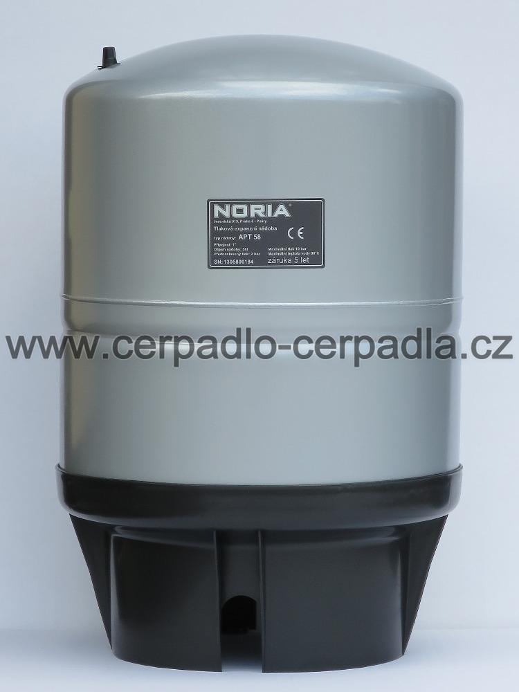 tlaková nádoba NORIA APT-58, dárek (stojaté tlakové nádoby, pro domácí vodárny, záruka 5 let, DOPRAVA ZDARMA, tlakové nádoby APT s butylovou membránou)