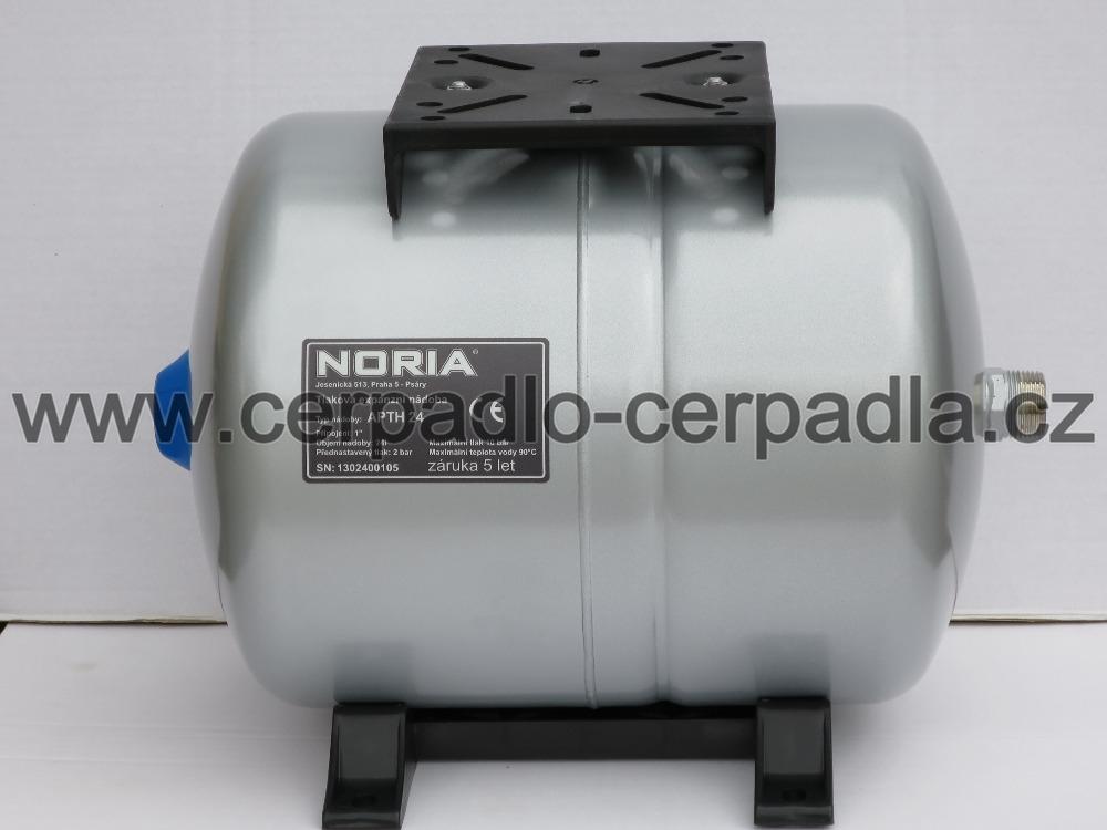 tlaková nádoba APTH-24, NORIA, ležaté tlakové nádoby noria APTH (pro domácí vodárny, záruka 5 let, DOPRAVA ZDARMA, tlakové nádoby APT s butylovou membránou)