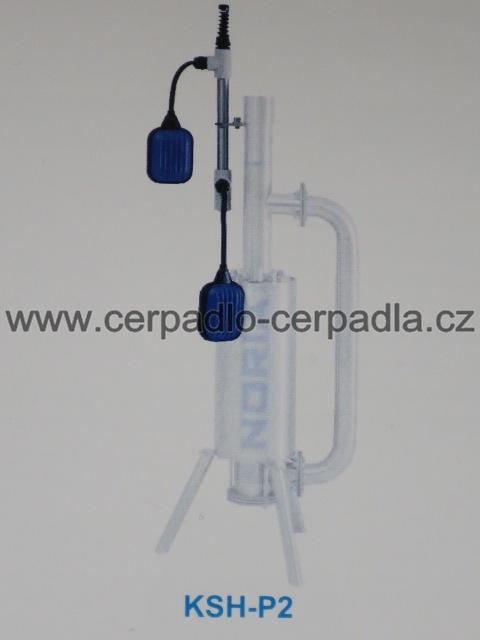 KSH-P2, snímač hladiny pro upevnění na čerpadlo, 2 plováky-10m (snímač hladiny NORIA KSH-P2 pro kalová čerpadla, tlakové kanalizace)