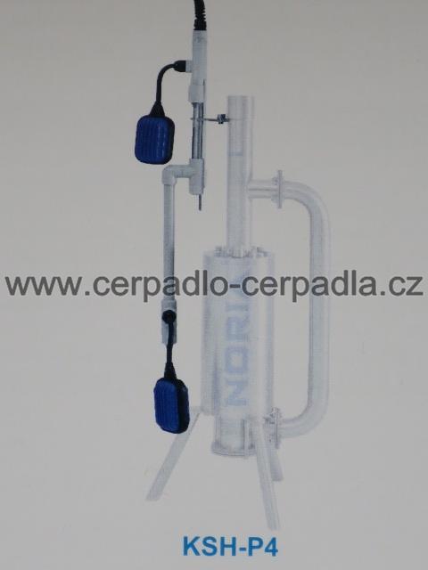 KSH-P4, snímač hladiny pro upevnění na čerpadlo, 3 sondy + 2 plováky-10m, Tlakan (snímač hladiny NORIA KSH-P4 pro kalová čerpadla, tlakové kanalizace)