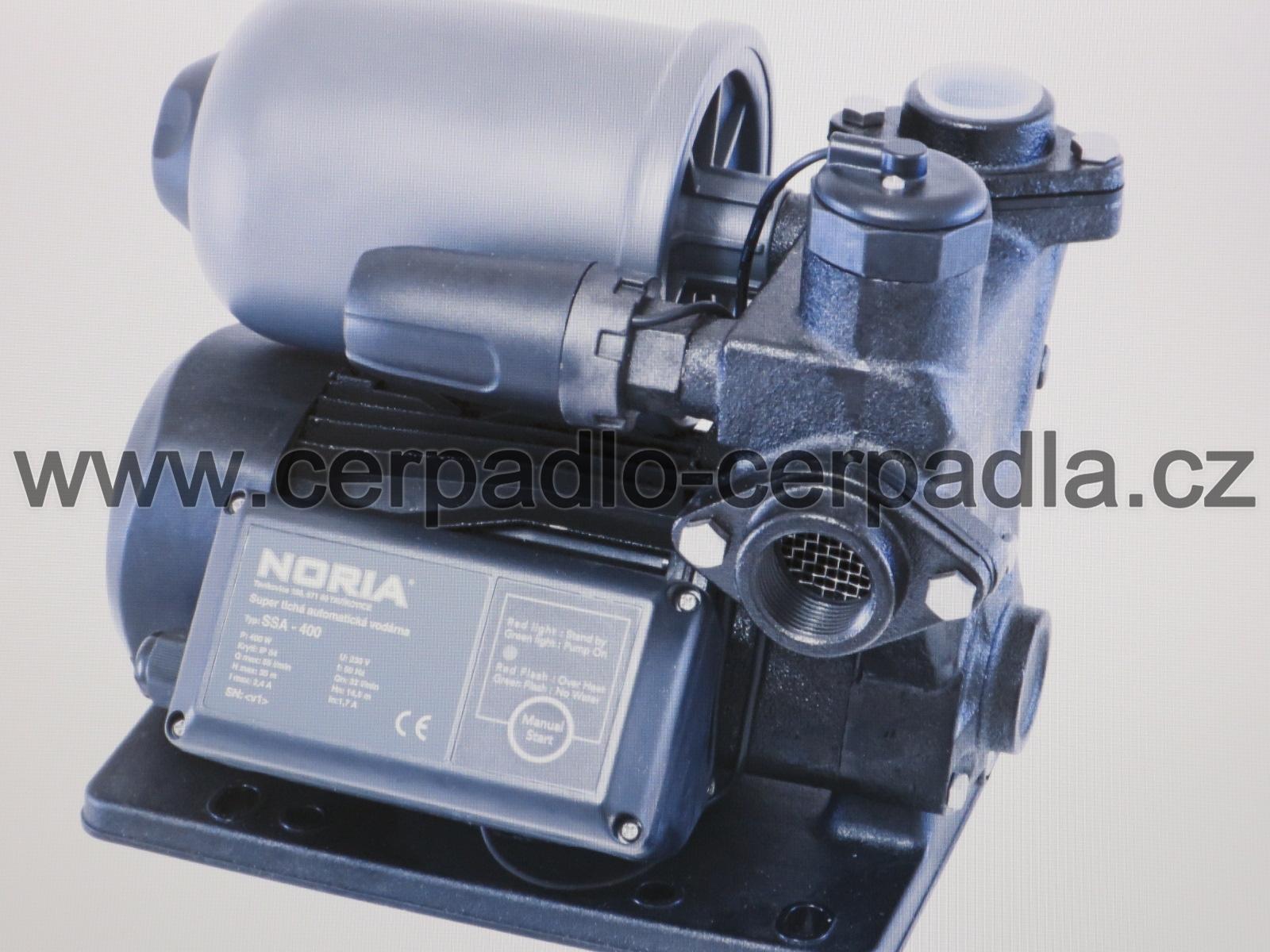 SSA-400, automatická vodárna NORIA, 230V (super tichá automatická vodárna, SSA-400, záruka 3 roky, DOPRAVA ZDARMA)
