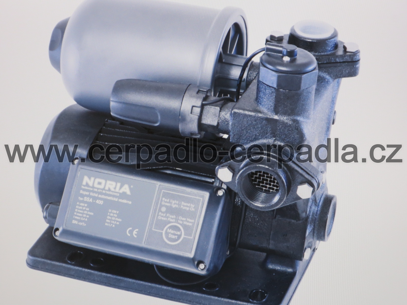 NORIA SSA-600, automatická vodárna, 230V, čerpadlo 200160 (super tichá automatická vodárna, SSA-600, záruka 3 roky, DOPRAVA ZDARMA)
