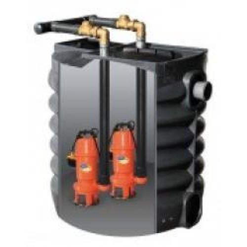 Sumobox 750/SHREDD-2, přečerpávací box, dvě čerpadla 230V (aquacup, kalová čerpadla, kalové čerpadlo, Sumobox 750/SHREDD-2, DOPRAVA ZDARMA)