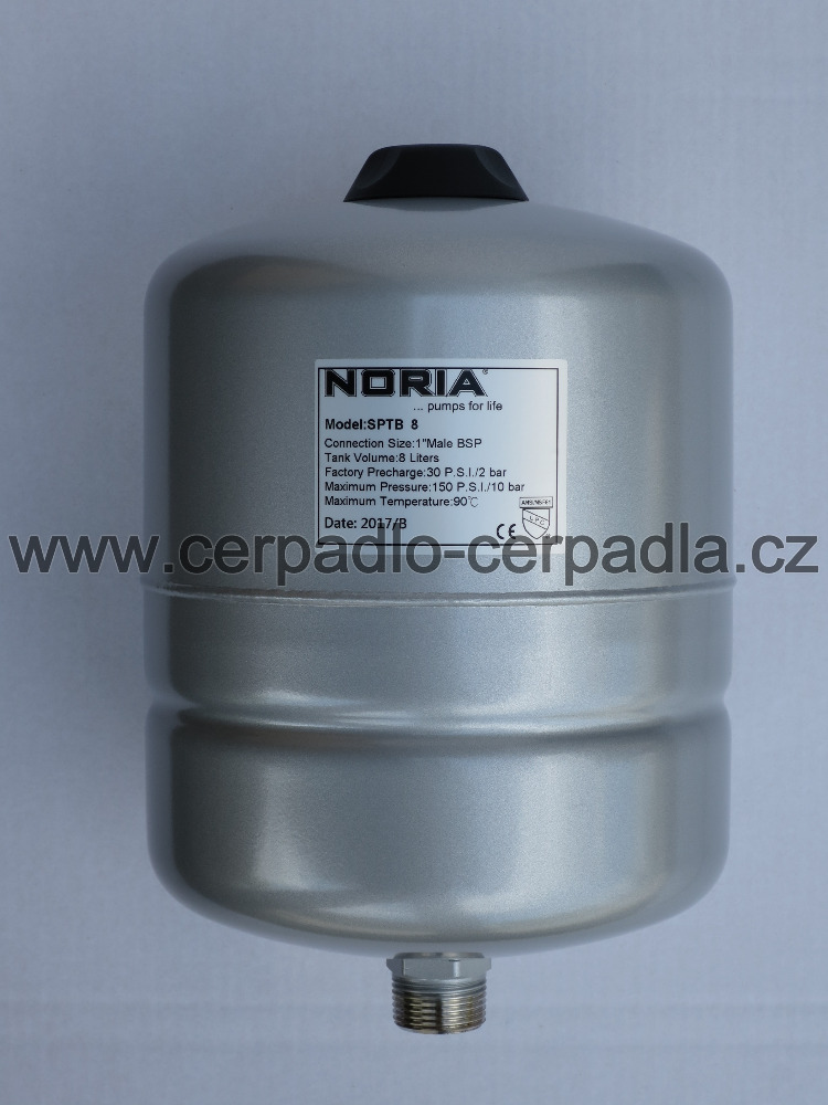 tlaková nádoba NORIA APT-8, stojaté tlakové nádoby (pro domácí vodárny, záruka 5 let, DOPRAVA ZDARMA, tlakové nádoby APT s butylovou membránou)