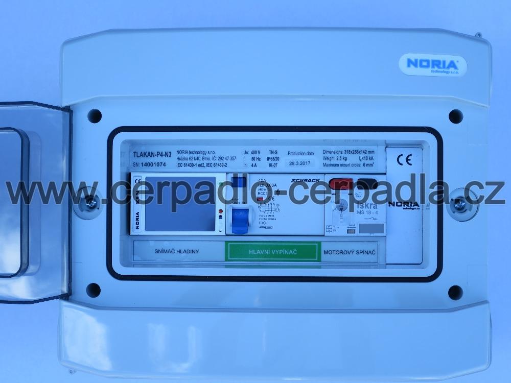 řídící jednotka s barevným dotykovým displejem, RJ-P4-N3, NORIA, tlakan, 946304 (DOPRAVA ZDARMA, pro ponorná čerpadla)