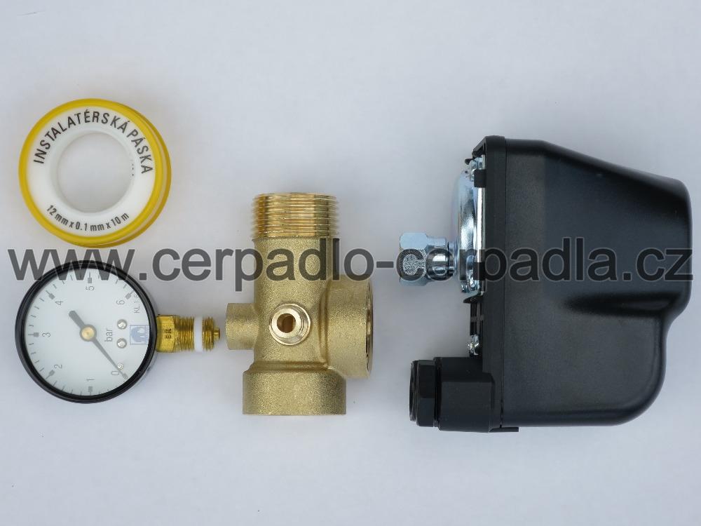 sada příslušenství standard, tlakový spínač, uzel, manometr, teflonová páska (sada příslušenství standard, pro čerpadla)
