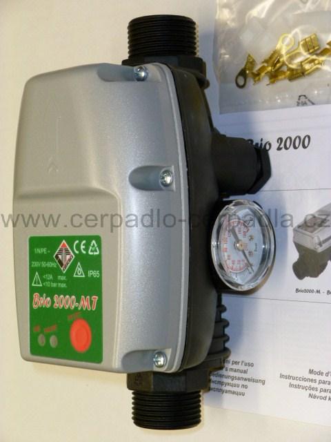 BRIO 2000 MT s manometrem, bez kabelu (průtokový spínač BRIO 2000-MT)