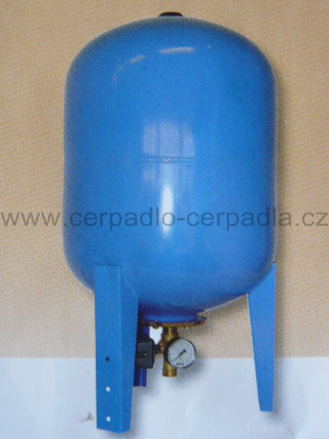 Vodárenský set 50 litrů, tlaková nádoba + příslušenství (Tlaková nádoba, set tlakové nádoby)