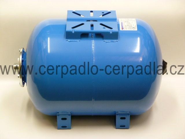 tlaková nádoba AQUASYSTEM VAO 50 (ležatá, tlakové nádoby AQUASYSTEM VAO 50, nádrž na vodu, pro domácí vodárny)