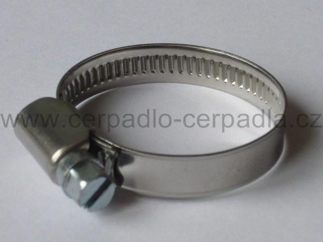 Hadicová spona NEREZ 40-60 mm, celonerezová (hadicová spona nerez šířka 9mm)