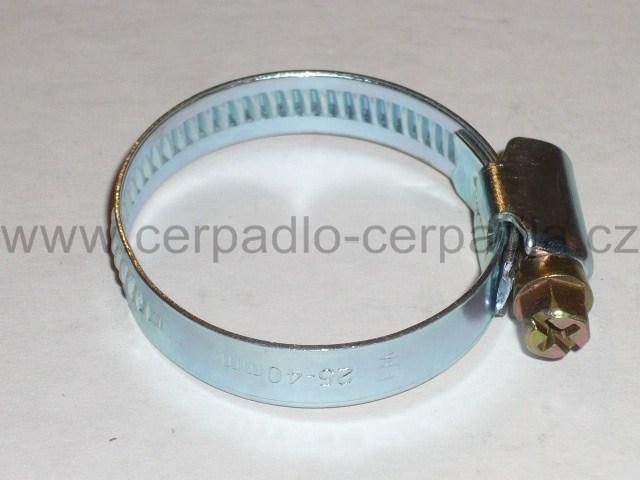Hadicová spona 25-40 mm Pozinkovaná pro hadice (Hadicová spona pozinkovaná ocel pro kalové čerpadlo, kalová čerpadla)