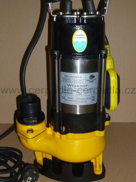 kalové čerpadlo WQ 750F, 230V s plovákem, (čerpadla WQ 750 F)