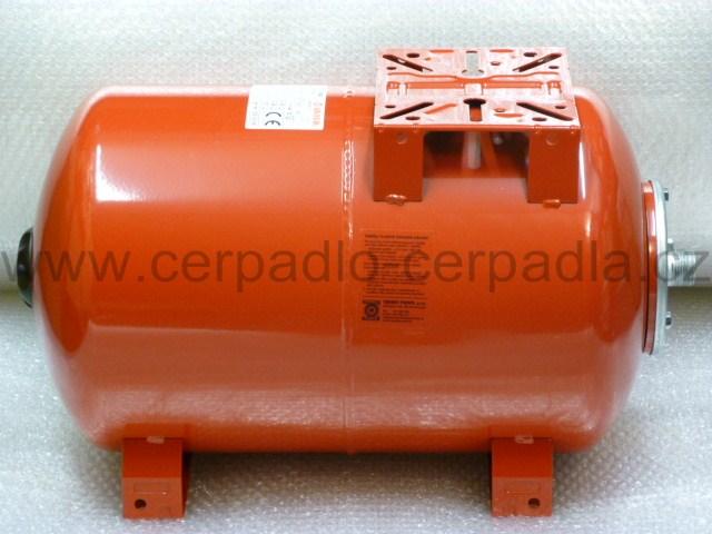Maxivarem LS 50 litrů, tlaková nádoba, ležatá, PP (tlakové nádoby VAREM LS 50)