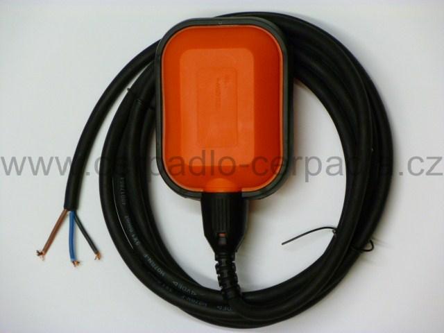 Plovákový spínač H07RN-F 3m kabel, plovák, pro čerpadlo (Plovákový spínač, plovák, plováky, hlídání hladiny)