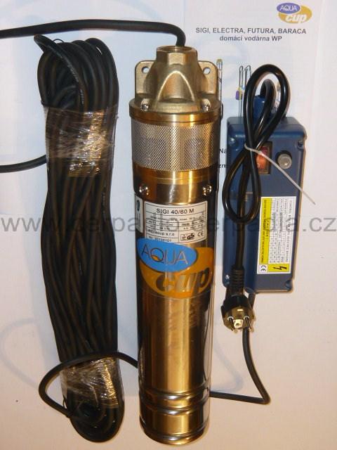 """AQUACUP 4"""" SIGI 40/100 M 20 m (kabel, 230V, ponorná čerpadla do vrtů, SIGI 40/100M)"""