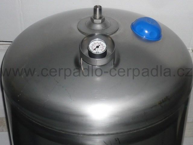 JOVAL VIM 1000, nerezová stojatá tlaková nádoba 8bar, s manometrem (JOVAL VIM 1000)