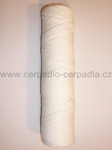 """FILTR VODA 1"""" dlouhá vložka z kroucené šňůry, 250mm, 25 mikron, 110167 (Vložka filtru pletená 250, kroucená šňůra)"""