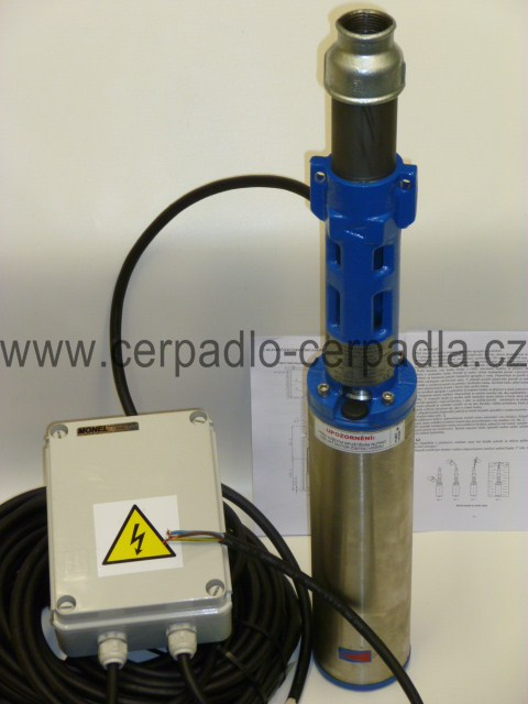 """PCH 1""""J4-90-16 čerpadlo 4"""" 230V 1m kabel (vřetenová ponorná čerpadla PCH 1""""J4-90-16 4"""")"""